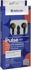 Гарнитура Defender Pulse 420 (черно-оранжевая) — фото, картинка — 4