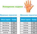 Перчатки для фитнеса SU-111 (S; чёрные/белые/голубые) — фото, картинка — 1