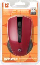 Мышь беспроводная Defender Accura MM-935 (красная) — фото, картинка — 3