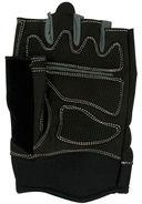 Перчатки для фитнеса SU-116 (XL; чёрные/серые) — фото, картинка — 4